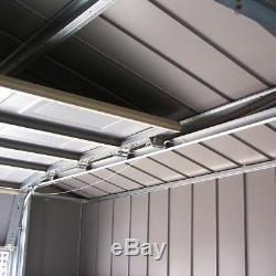 12 X 24 Pieds Metal Hill Apex Hill Jardin De Stockage Magasin Voiture Garage Grande Unité D'acier