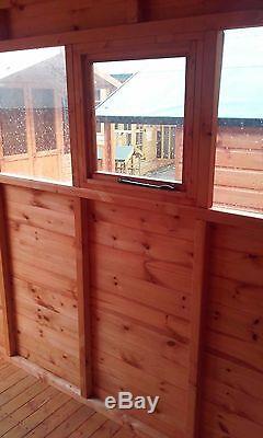 12x5 Garage En Bois De L'atelier Entièrement T & G Abri Magasin 12ft X 5ft Apex Ou Appentis