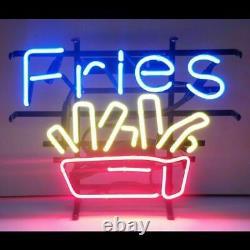 13x8 Français Fries Neon Beer Sign Light Lamp Bar Garage Store Suspendu