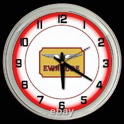 16 Evinrude Boat Motors Red Neon Clock Homme Cave Garage Boutique