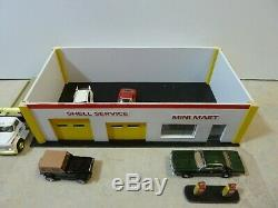 1/64 Maquette Garage Station / Gaz / Magasin Divers Modèles Shell Chevy Checker