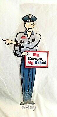 24 Énorme Mon Garage Mes Règles Stocker Affichage Avant Automatique D'huile Collecteur Signe Annonce Acier