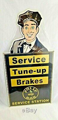 24 Polly Perroquet Service De Gaz Frein Tuneup Affichage Magasin Garage Signe De L'annonce Steel USA