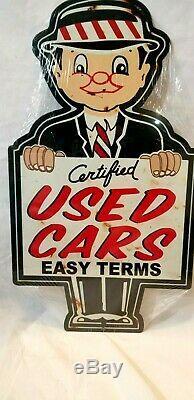 24 Salesman Facile Termes Utilisés Car Service Affichage Magasin Garage Signe De L'annonce Steel USA