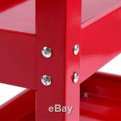 3 Niveau De Stockage Panier Heavy Duty Atelier Garage Tool Store Roue Rotation 360