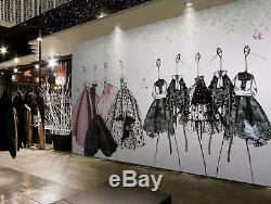 3d Mode Fond Magasin Mur Papiers Peints Papier Peint Des Peintures Murales Sticker