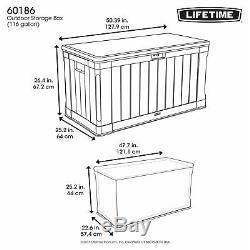 439 Litres D'extérieur Boîte De Rangement De Jardin Utilitaire Coffre En Plastique Garage Tool Store
