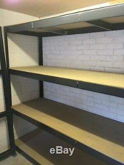 4 Racking Shelf, Garage, Magasin, Entrepôt Racking Bon État (liste A)
