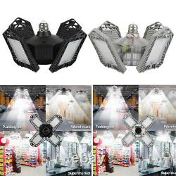 4pack Led Work Shop Light Bulb Pliable Ceiling Fixture 150w Store Outdoor