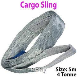 5m 4 Tonne (4000kg) Appartement Webbing Fort Cargo Sling -lifting Grue De Levage Sangle