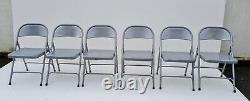 6 X Pliable Chaises En Métal, Pliable, Facile Store, Bureau, Partie, En Vrac Acheter
