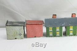 7 Bâtiments Vintage Tin Bonbons Conteneurs De Drogue Maison Magasin École Garage Théâtre
