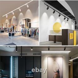 8pcs Set Led Plafond Lumières D'éclairage D'endroits Rail Track Installation D'éclairage Pour La Maison