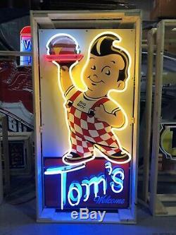 Amazing Grand Bobs Big Boy Bienvenue Neon Tom Enseigne Display Garage Cave Man