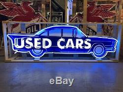 Amazing Grand Concessionnaire Neon Voitures Enseigne Display Garage Article Cave Man