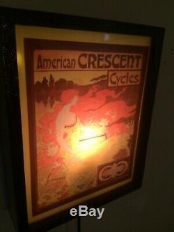 Américain Crescent Vélo Bike Store Garage Man Cave Adverising Lighted Connexion