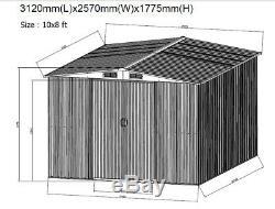 Apex Extérieur, Robuste En Acier Shed De Jardin En Métal + Base De Stockage Shed Uk Magasin
