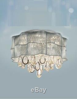 Bleu Et Rose Lampe Magasin De Vêtements Salon Led Café Cristal Plafonnier Lumière