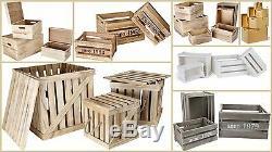 Boîtes En Bois Blanc Naturel Crates Bois Non Traité Couvercles Décor Magasin Ensemble Pratique