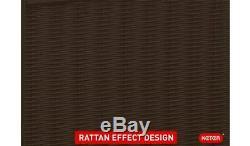 Bornéo Rotin Effet Brown Boîte De Rangement 416l Extérieur Patio Garage Magasin XL