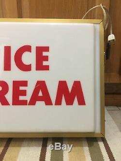 Breyers Ice Cream Signe Clair Plastique Pays Magasin Dairy Farm Garage Bar Pub