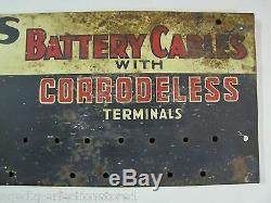 Câbles Bowes Batterie 1950 Connexion Présentoir Repair Magasin Magasin De Pièces Garage Annonce