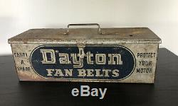 Ceintures De Dayton Fan Publicité Metal Box Garage Magasin Afficher 1930 Années 1940