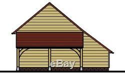 Ch25gl 2-oak Bay Cadre Garage Bâtiment / Panier Lodge Kit Side Aisle / Log Magasin