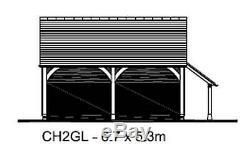Ch2gl Oak Cadre Garage Bâtiment / Panier Lodge Kit Autoassemblage Avec Connexion Magasin