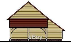 Ch3gl Oak Cadre Garage Bâtiment / Panier Lodge Kit Autoassemblage Avec Connexion Magasin