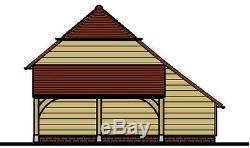Ch4bl Oak Cadre Garage Kit / Panier Lodge (autoassemblage) 4-bay / Log Magasin