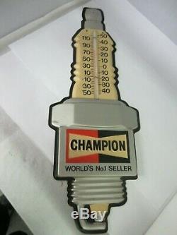 Champion Vintage De La Publicité Bougie Thermomètre Magasin Garage Station M-551