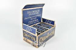 Champion Vintage Y-5 Spark Plug In Affichage Original Magasin Boîte De 10 Garage Cave