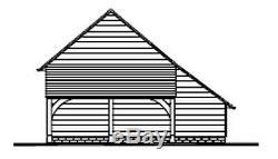 Chi5gl Traditionnel Chêne Framed Garage Bâtiment / Panier Lodge Kit 1.5-bay / Log Magasin