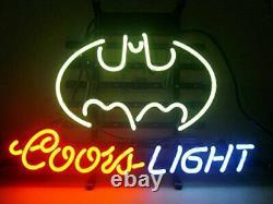 Coors Light Batman Neon Lamp Sign 14x10 Bar Lighting Garage Cave Store Artwork