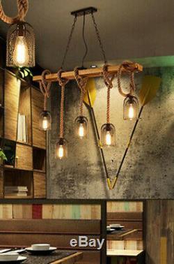 Corde Vintage Chanvre Lustre Bar Restaurant Magasin De Vêtements D'éclairage Lamp