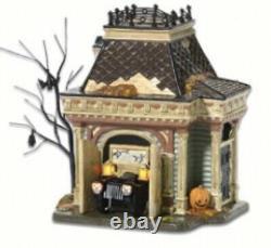 Dept 56 Halloween Village Grimsly Garage. # 54706. Retraité. Affichage De Magasin