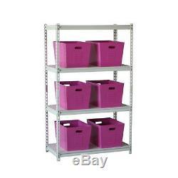 Ensemble De Six Acier Galvanisé Rose Utility Storage Bins Outils Boutique Jardin Animaux