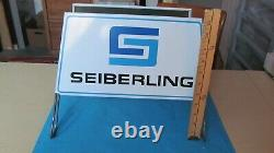 Étain Métallique Vintage Sign Garage Seiberling Tire Display Magasin 70 Rares
