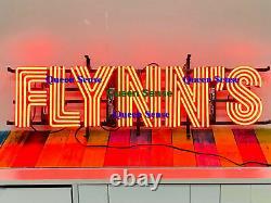 Flynn's Bar Neon Sign 32x10 Lampe Lumière Garage Pub Man Cave Store Décor