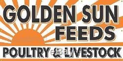 Golden Sun Feeds Old Rss Enseigne Remake Imprimé Bannière Grange Garage Art 4 X 8