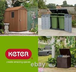 Grand Keter Ultra 6x4 Ft Magasin Jardin Rangement Extérieur Garage Shed Vélos Bins Nouveau