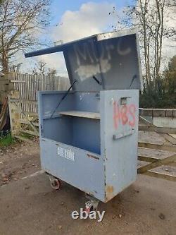 Grand Magasin De Coffre-fort Boîte À Outils Van Vault Garage Workshop A Besoin De Serrure £ 260 + Cuve E22