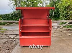 Grand Red Site Store Boîte À Outils Van Camion Atelier Garage, Avec Clé £360+vat E70
