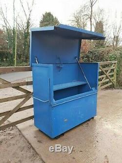 Grande Boîte À Outils Bleu Magasin Site Van Atelier De Camion Vault Hangar Garage £ 249 + Tva D39