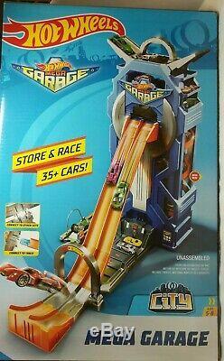 Hot Wheels Mega Garage City Store Et Race Cars Plus 35 Marque Nouveau Pour 5-8 Ans