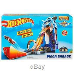 Hot Wheels Mega Garage Enfants Garçons Playset Cars Store Jusqu'à 35 Voitures Nouveau Cadeau
