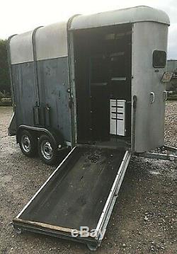 Ifor Williams Hb505 Horsebox Bande-annonce Débroché Que Mobile Garage / Magasin // Bureau