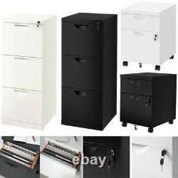 Ikea Erik 2 / 3 Unité De Tiroir Avec Lock Home Office Files Documents Cabinets Store