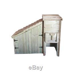 Jardin En Bois Charbon Bunker & Log Magasin Portes Coal Bunker & Log Magasin